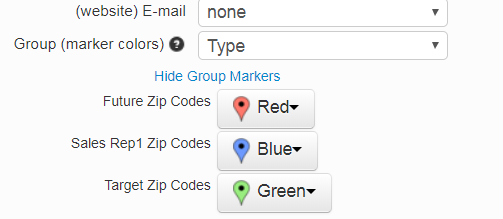 Colors for different zip codes