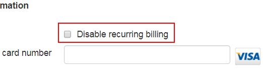 disable recurring billing